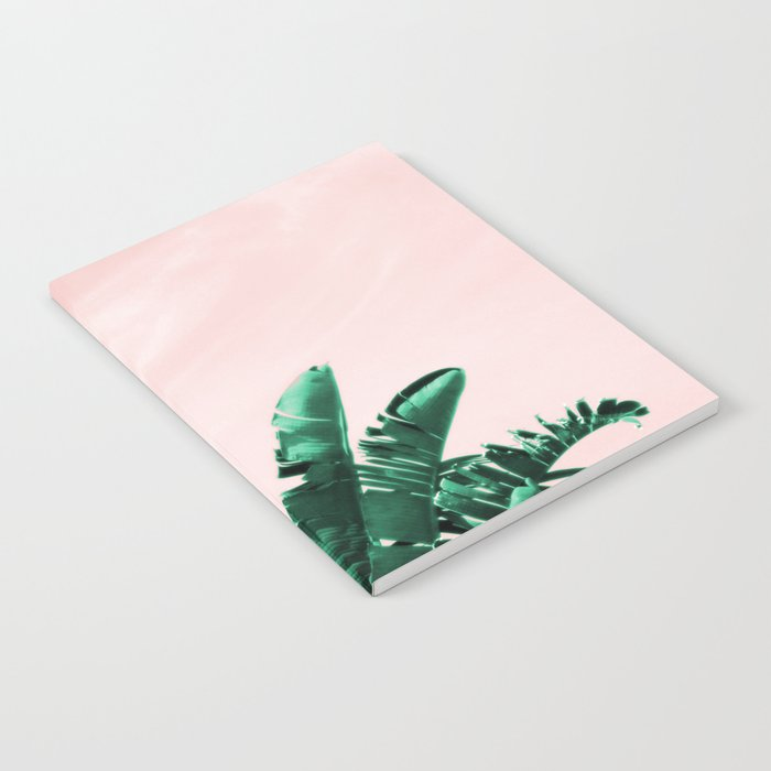 Turquoise Banana And Palm Leaves Notebook By Annaki Society6