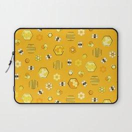 Mid Century Modern Honey Bees Pattern Laptop Sleeve