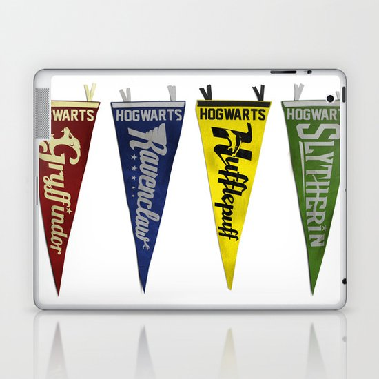 Vintage Hogwart's Pennant Collection Laptop & iPad Skin
