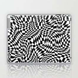 TIME MOVES SLOWLY (warped geometric pattern) Laptop & iPad Skin