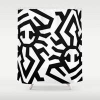 twins Shower Curtains featuring Twins by muchö