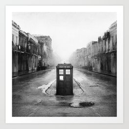 Tardis And The Old City Art Print
