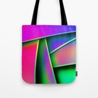 grafitti Tote Bags featuring Grafitti by Party Peeps