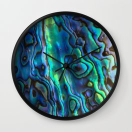 Blue Abalone Wall Clock