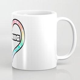 Pastel Strong Mosaic Heart Graphic Design  Coffee Mug