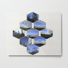 A Collage Of Winter In Frederick Maryland Metal Print
