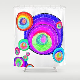 Colorful Secret Geometry | painting by Elisavet #society6 Shower Curtain