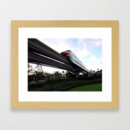 Resort: Monorail Framed Art Print