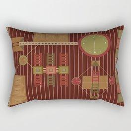 African Adinkra Owuo Atwedee Rectangular Pillow