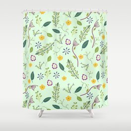 Floral Greenery Pattern I Shower Curtain
