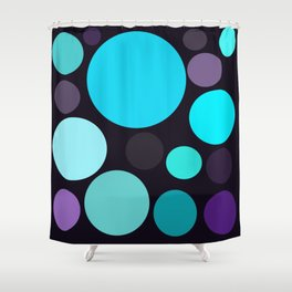 Blue and Purple Dots Shower Curtain
