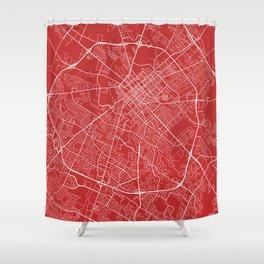 Lexington Map, USA - Red Shower Curtain