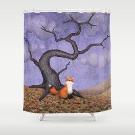 the rainy fox Shower Curtain