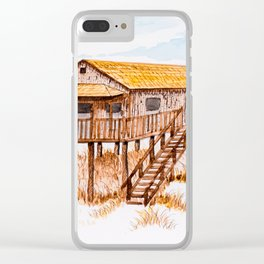 Old beach house Clear iPhone Case
