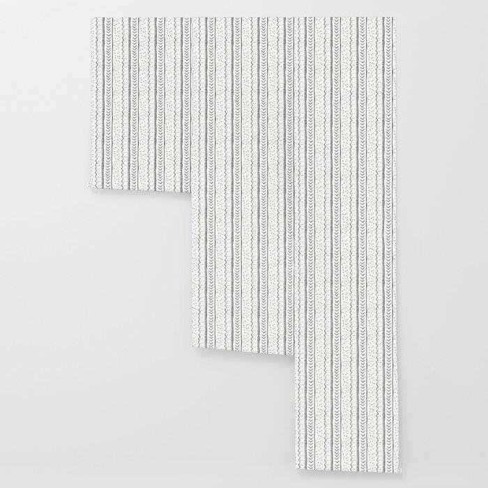 Moroccan Stripe in Cream and Black Wallpaper