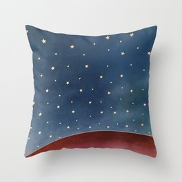 Planet of Stars Throw Pillow