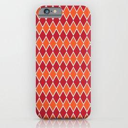 Red and orange diamond pattern  iPhone Case