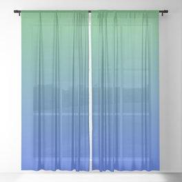 RESTING STATE - Minimal Plain Soft Mood Color Blend Prints Sheer Curtain