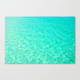 Turquoise Blue Ocean Canvas Print