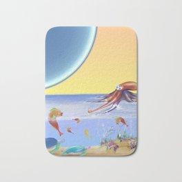 Sealife Family Childrens Illustration Bath Mat