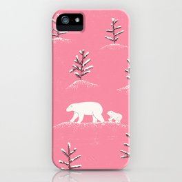 Bears in the snow iPhone Case