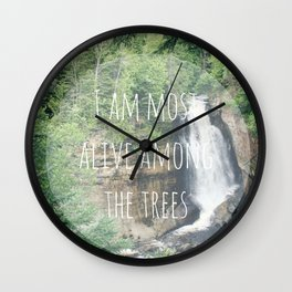 Alive Among The Trees Wall Clock
