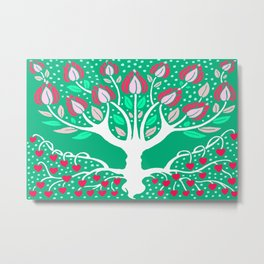 Love Grows Forever - Emerald Green Metal Print