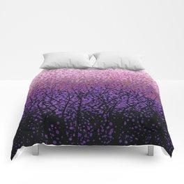Plum Blossom Tree Grove Comforters