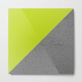 Cement Lime Diagonal Color Block Metal Print