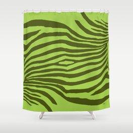Animal Waves (Green Mood) Shower Curtain
