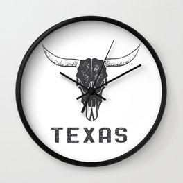 Texas Longhorn Skull Wall Clock