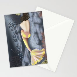 Sleeping Mermaid Stationery Cards