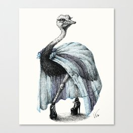 Portrait of Lady Ostrich Canvas Print