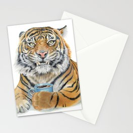 Too Early Tiger Stationery Cards