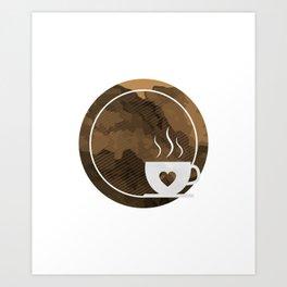 Coffee brings the passion - I love Coffee Art Print
