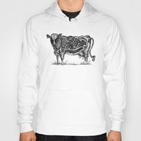 cow Hoodies featuring Cow by Ejaculesc