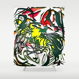 Abstract Colorful Ink Shower Curtain