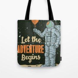 Let The Adventure Begins Tote Bag