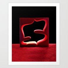 Red on Black Art Print