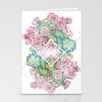 leah flores Stationery Cards featuring Flores by Barlena