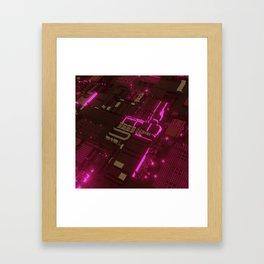 CHIP NEON CITY Framed Art Print