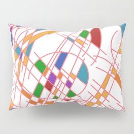 Modern Art Block Color Seeking Cubism Pillow Sham