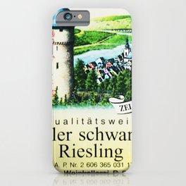Vintage Zeller Schwarze Katz Riesling Black Cat Wine Bottle Mosel Label Print iPhone Case