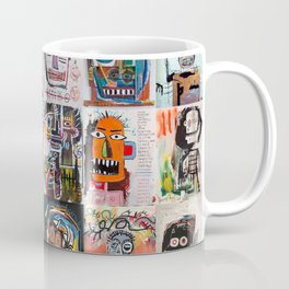 Basquiat Faces Montage Coffee Mug