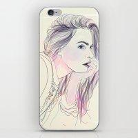 cara iPhone & iPod Skins featuring Cara by Guadalupe Jiménez
