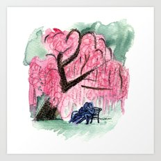 Blossoming Romance Art Print