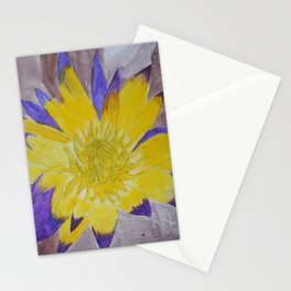 Yellow Lotus Stationery Cards