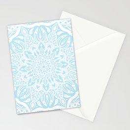 Pastel Blue and White Mandala Stationery Cards