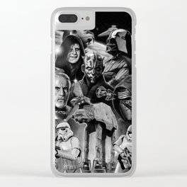 Dark Side StarWars Darth Vader Darth Maul Sith Storm Trooper kylo Dooku Sidious Clear iPhone Case