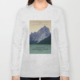 Nahanni National Park Poster Long Sleeve T-shirt